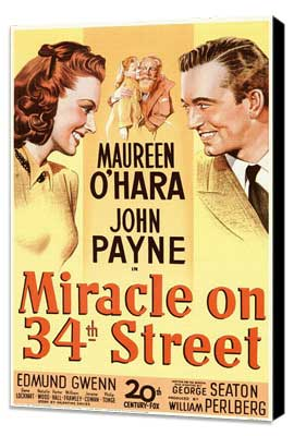 Miracle on 34th Street - 11 x 17 Movie Poster - Style A - Museum Wrapped Canvas
