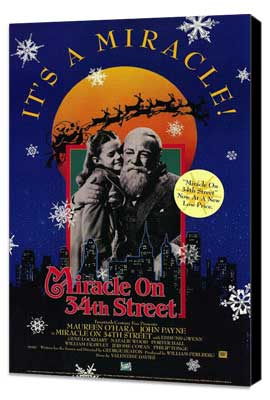 Miracle on 34th Street - 27 x 40 Movie Poster - Style B - Museum Wrapped Canvas