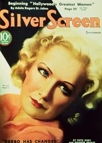 Miriam Hopkins - 11 x 17 Silver Screen Magazine Cover 1930's Style B