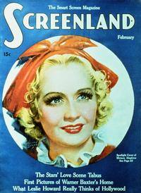 Miriam Hopkins - 27 x 40 Movie Poster - Screenland Magazine Cover 1930's Style A