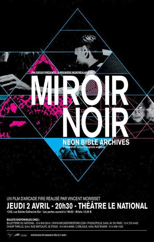 Miroir noir movie posters from movie poster shop for Arcade fire dvd miroir noir