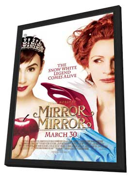 Mirror Mirror - 11 x 17 Movie Poster - Style A - in Deluxe Wood Frame