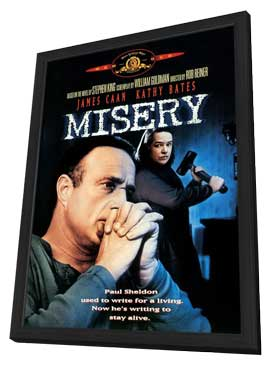 Misery - 27 x 40 Movie Poster - Style D - in Deluxe Wood Frame