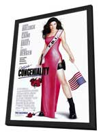 Miss Congeniality - 11 x 17 Movie Poster - Style A - in Deluxe Wood Frame