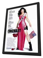 Miss Congeniality - 27 x 40 Movie Poster - Style A - in Deluxe Wood Frame