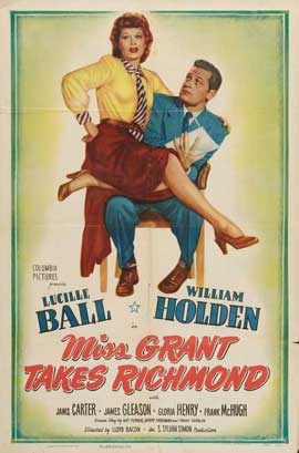 Miss Grant Takes Richmond - 27 x 40 Movie Poster - Style A