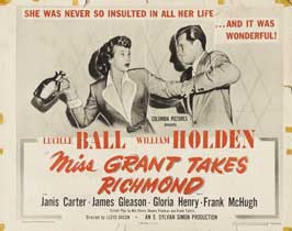 Miss Grant Takes Richmond - 22 x 28 Movie Poster - Half Sheet Style A