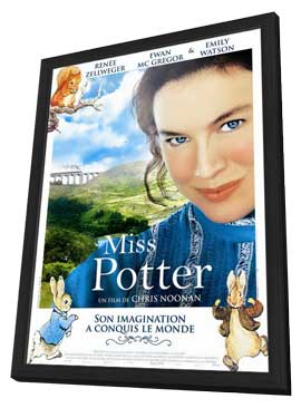 Miss Potter - 27 x 40 Movie Poster - French Style A - in Deluxe Wood Frame