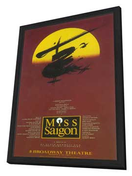 Miss Saigon (Broadway) - 27 x 40 Poster - Style A - in Deluxe Wood Frame