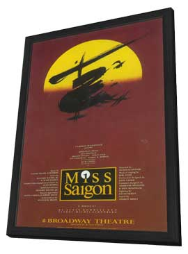 Miss Saigon (Broadway) - 11 x 17 Poster - Style A - in Deluxe Wood Frame