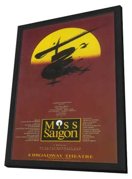 Miss Saigon (Broadway) - 14 x 22 Poster - Style A - in Deluxe Wood Frame