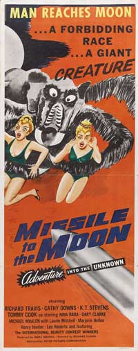 Missile to the Moon - 14 x 36 Movie Poster - Insert Style A