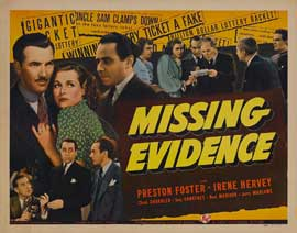 Missing Evidence - 22 x 28 Movie Poster - Style A