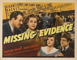 Missing Evidence - 22 x 28 Movie Poster - Style B
