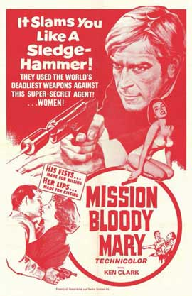 Mission Bloody Mary - 11 x 17 Movie Poster - Style B