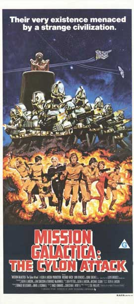 Mission Galactica: The Cyclon Attack - 11 x 17 Movie Poster - Australian Style A