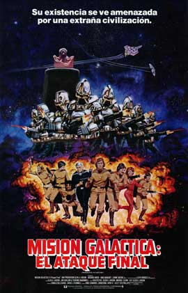 Mission Galactica: The Cyclon Attack - 27 x 40 Movie Poster - Spanish Style A