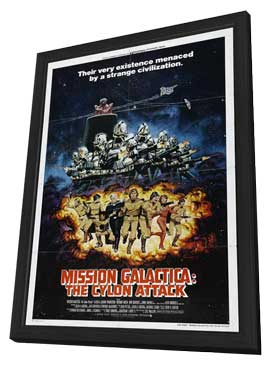 Mission Galactica: The Cyclon Attack - 27 x 40 Movie Poster - Style A - in Deluxe Wood Frame