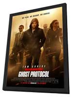 Mission: Impossible - Ghost Protocol - 27 x 40 Movie Poster - Style B - in Deluxe Wood Frame