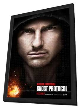 Mission: Impossible - Ghost Protocol - 27 x 40 Movie Poster - Style A - in Deluxe Wood Frame