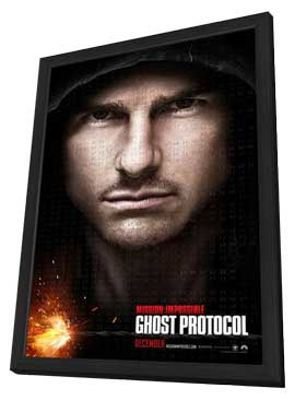 Mission: Impossible - Ghost Protocol - 11 x 17 Movie Poster - Style B - in Deluxe Wood Frame