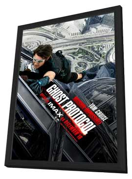 Mission: Impossible - Ghost Protocol - 27 x 40 Movie Poster - Style C - in Deluxe Wood Frame