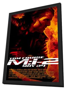 Mission: Impossible 2 - 27 x 40 Movie Poster - Style A - in Deluxe Wood Frame