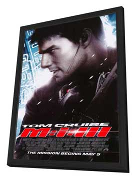 Mission: Impossible III - 27 x 40 Movie Poster - Style B - in Deluxe Wood Frame