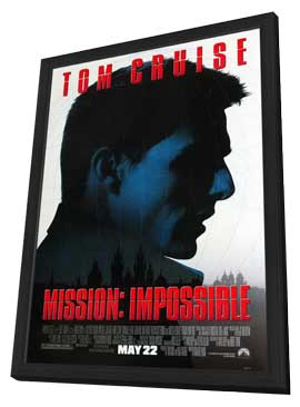 Mission: Impossible - 27 x 40 Movie Poster - Style E - in Deluxe Wood Frame