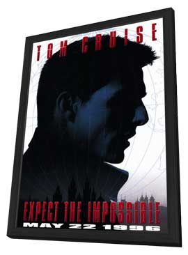Mission: Impossible - 11 x 17 Movie Poster - Style A - in Deluxe Wood Frame