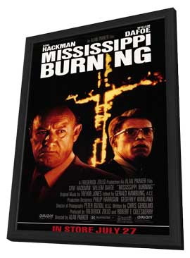 Mississippi Burning - 11 x 17 Movie Poster - Style A - in Deluxe Wood Frame