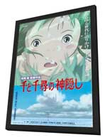 Miyazaki's Spirited Away - 27 x 40 Movie Poster - Japanese Style A - in Deluxe Wood Frame