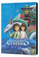 Miyazaki's Spirited Away - 27 x 40 Movie Poster - Spanish Style A - Museum Wrapped Canvas