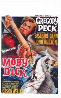 Moby Dick - 14 x 22 Movie Poster - Belgian Style A