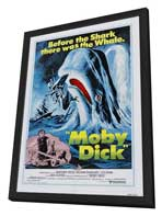 Moby Dick - 27 x 40 Movie Poster - Style A - in Deluxe Wood Frame