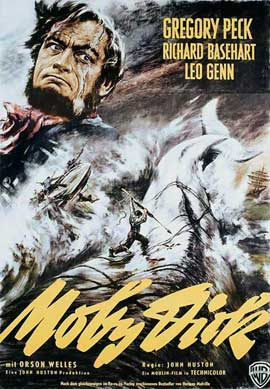 Moby Dick - 27 x 40 Movie Poster - German Style A