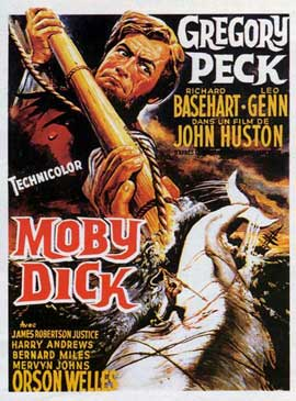 Moby Dick - 27 x 40 Movie Poster - French Style A