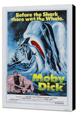 Moby Dick - 27 x 40 Movie Poster - Style A - Museum Wrapped Canvas