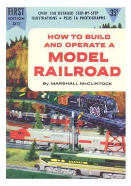 Model Railroad - 11 x 17 Retro Book Cover Poster