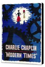 Modern Times - 11 x 17 Movie Poster - Style A - Museum Wrapped Canvas