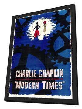 Modern Times - 11 x 17 Movie Poster - Style A - in Deluxe Wood Frame