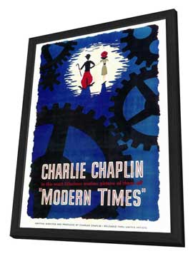 Modern Times - 27 x 40 Movie Poster - Style A - in Deluxe Wood Frame