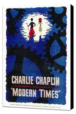 Modern Times - 27 x 40 Movie Poster - Style A - Museum Wrapped Canvas
