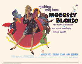 Modesty Blaise - 11 x 14 Movie Poster - Style A