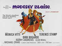 Modesty Blaise - 14 x 36 Movie Poster - Insert Style B