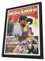 Mogambo - 27 x 40 Movie Poster - Style E - in Deluxe Wood Frame
