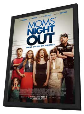 Mom's Night Out - 11 x 17 Movie Poster - Style A - in Deluxe Wood Frame