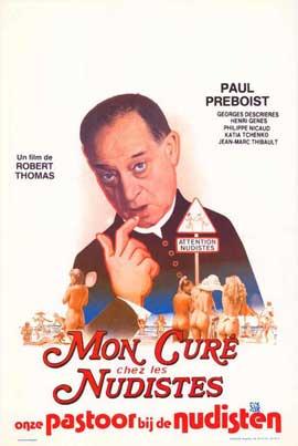 Mon cure chez les nudistes - 11 x 17 Movie Poster - Belgian Style A