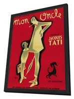 Mon Oncle - 27 x 40 Movie Poster - French Style A - in Deluxe Wood Frame