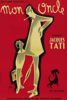 Mon Oncle - 27 x 40 Movie Poster - French Style A